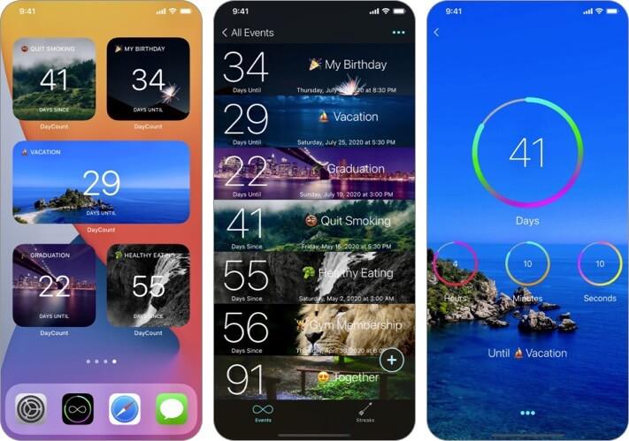 DayCount iPhone und iPad Countdown App Screenshot