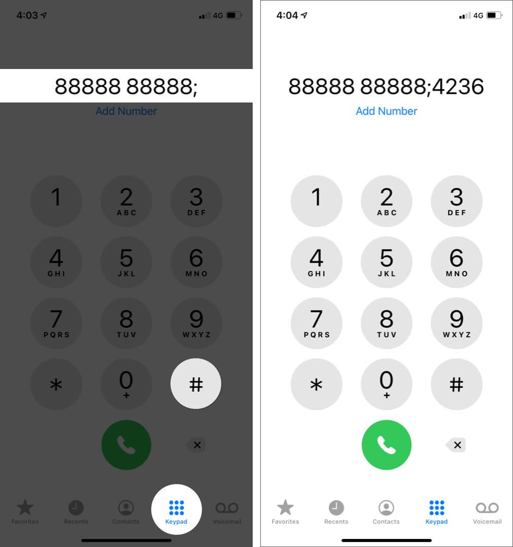 Dial an Extension Using Hash on iPhone