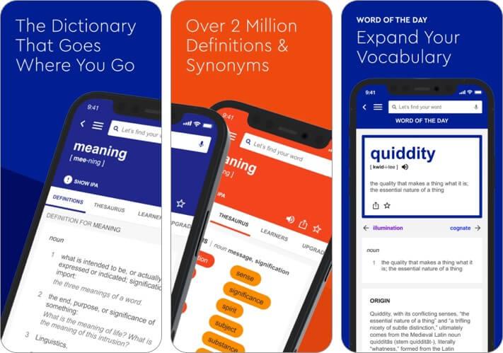 Dictionary.com iPhone and iPad App Screenshot
