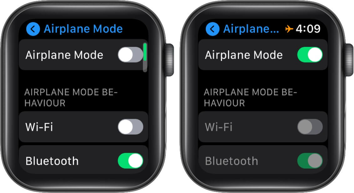 Enable Airplane Mode on Apple Watch
