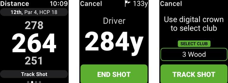 Golf GPS SwingU Apple Watch App Screenshot