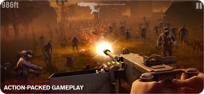 Into the Dead 2 iPhone and iPad Action Game Screenshot