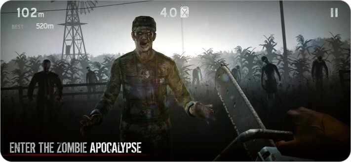 Into The Dead iPhone and iPad Zombie Game Screenshot