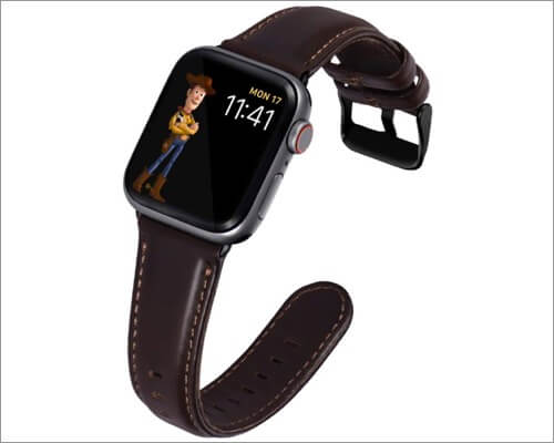 Kades Retro-inspired Leather Band for Apple Watch Series 6, 5, 3 and SE