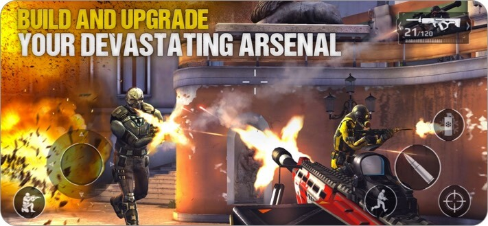 Modern Combat 5 iPhone and iPad Action Game Screenshot