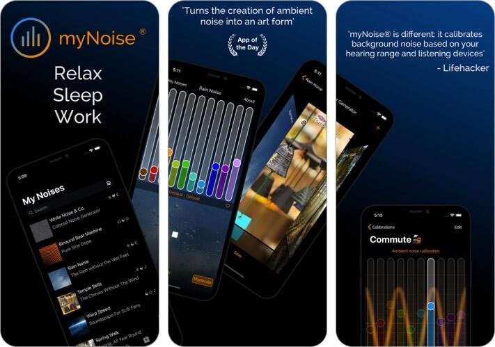 myNoise iPhone App Screenshot