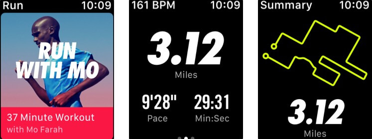 Nike Run Club Apple Watch App Screenshot