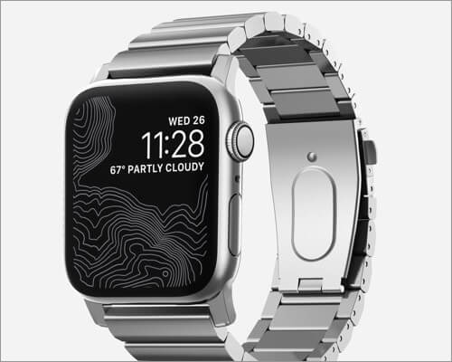 Nomad Steel Band for Apple Watch Series 6, SE, 5, 4, and 3
