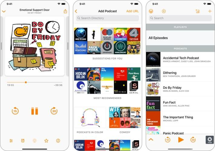 Overcast iPhone CarPlay App Screenshot