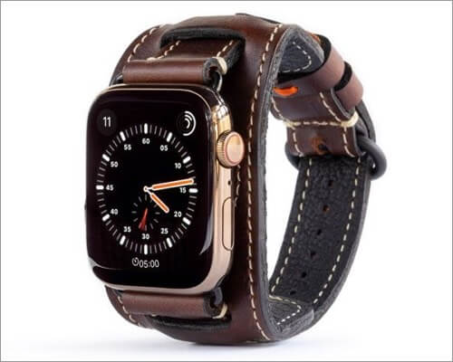 Pad & Quill Lowry Cuff Leather Band for Apple Watch Series 6 and SE