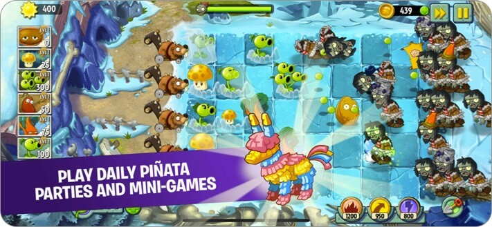 Plants vs. Zombies 2 iPhone Game Screenshot