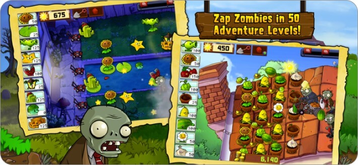 Plants vs. Zombies iPhone and iPad Game Screenshot