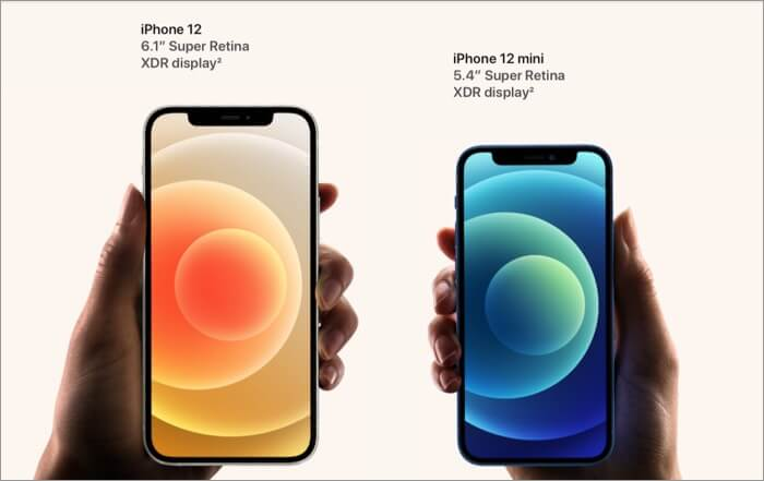 Specifications of Design and Display of iPhone 12 and 12 Mini