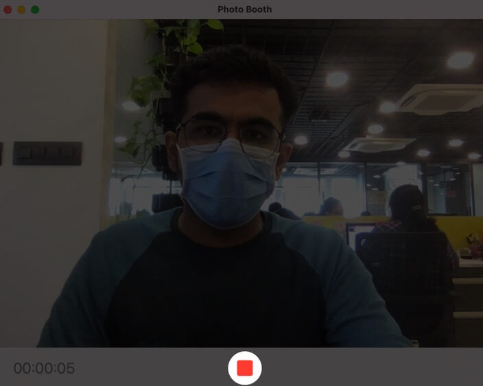 Stop video recording in the Photo Boot App on Mac