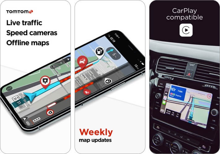 TomTom GO Navigation iPhone CarPlay App Screenshot
