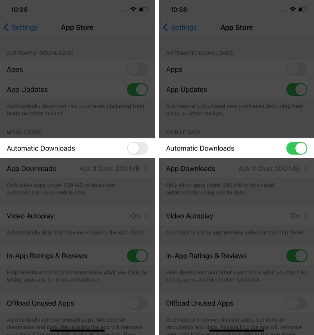 Turn On Automatic Downloads to Update Apps Automatically on iPhone