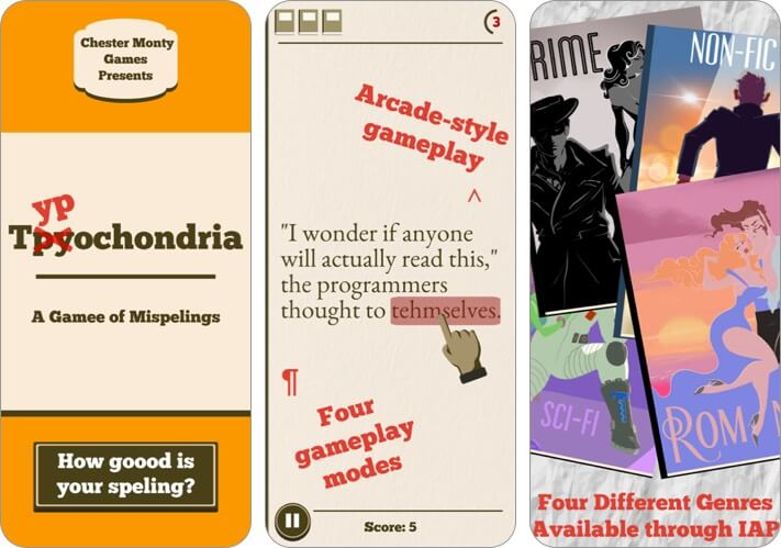 Typochondria iPhone and iPad Game Screenshot