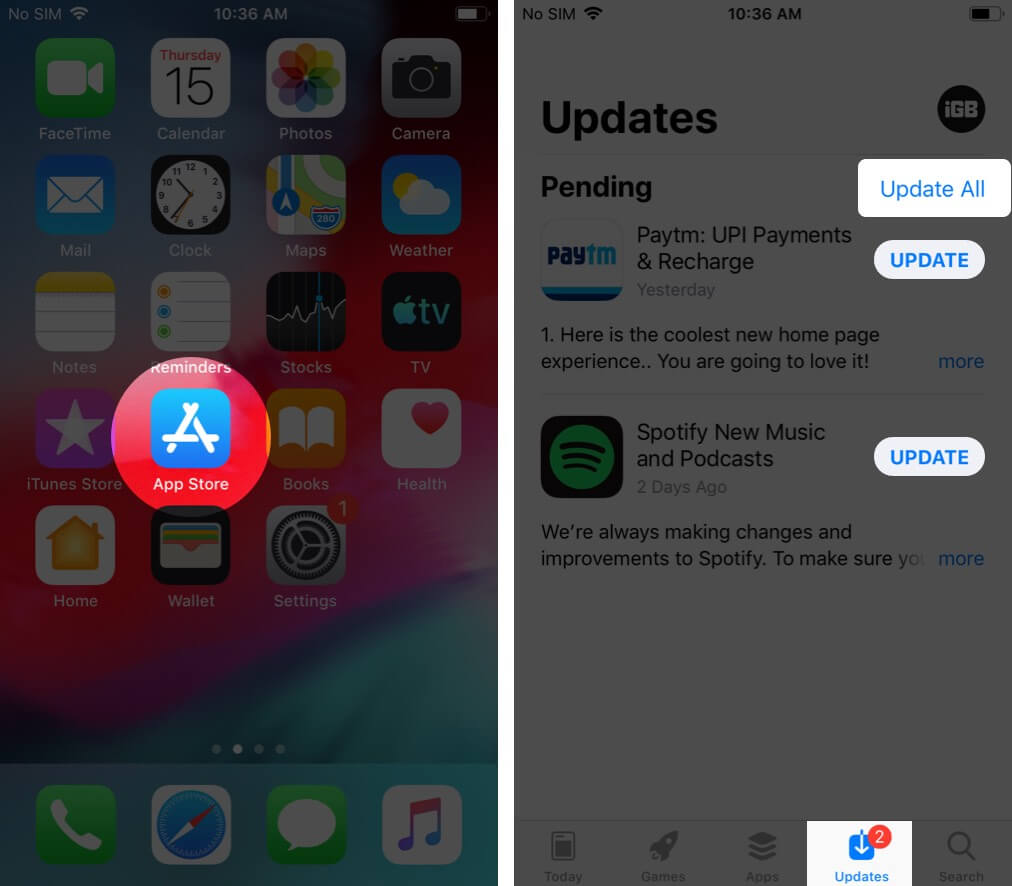 Update Apps on iPhone Running iOS 12 or Earlier