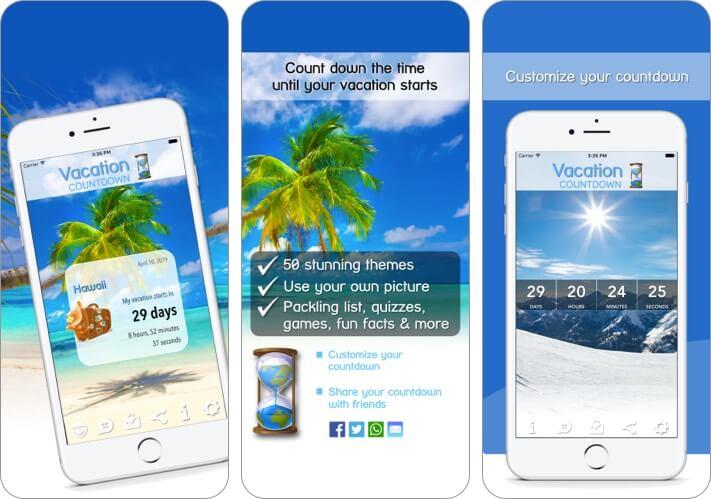 Urlaub Countdown iPhone und iPad App Screenshot