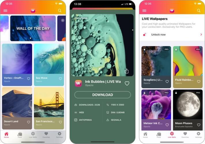 Wallpapers Central iPhone App Screenshot