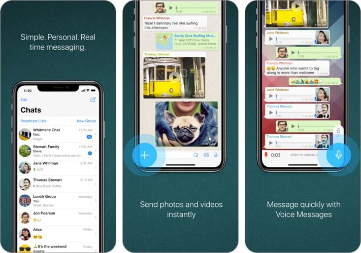 WhatsApp iPhone CarPlay App Screenshot