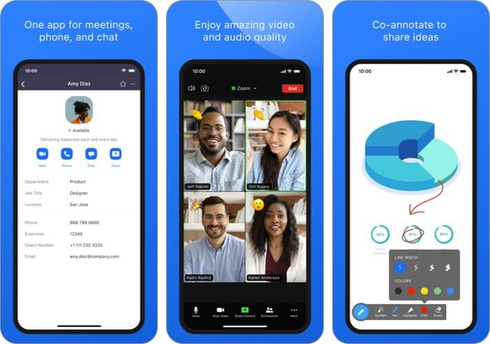 ZOOM Cloud Meetings iPhone CarPlay App Screenshot