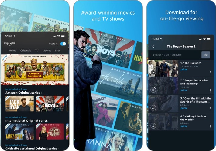 Amazon Prime Video thanks giving app for iPhone