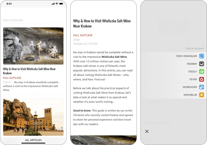 Unread RSS Reader app for iPhone and iPad