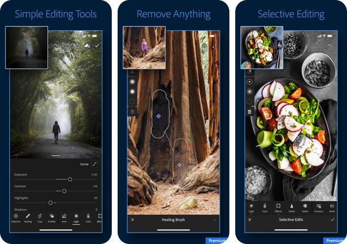 Adobe Lightroom RAW Photo Editing iPhone and iPad App Screenshot