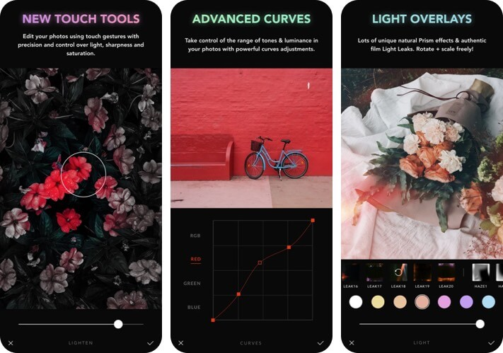 Afterlight RAW Photo Editing iPhone and iPad App Screenshot