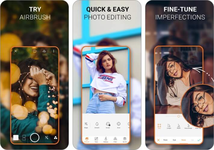 Airbrush iPhone and iPad Selfie App Screenshot