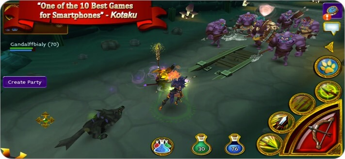 Arcane Legends MMORPG iPhone and iPad Game Screenshot