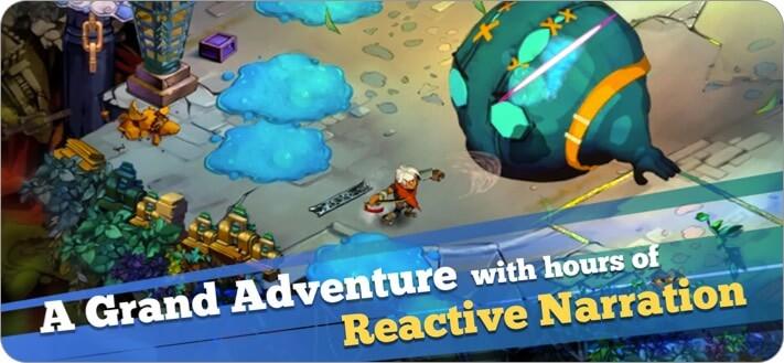 Bastion iPhone and iPad RPG Game Screenshot