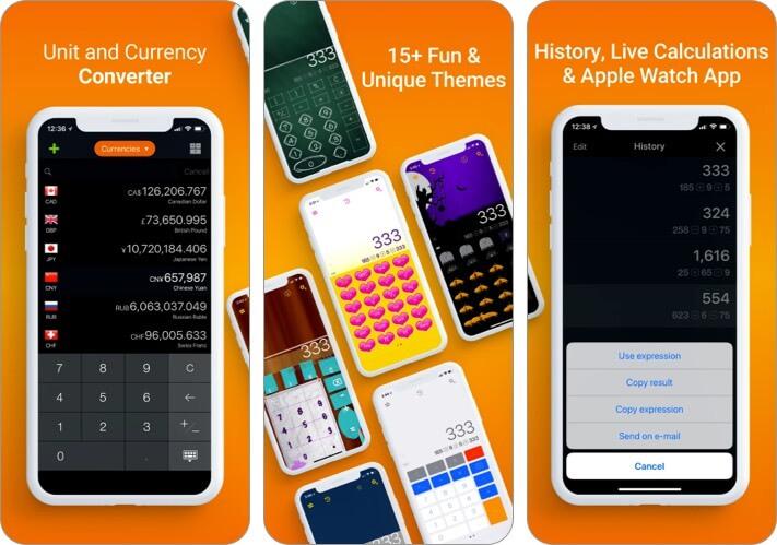 CalConvert Currency Converter iPhone and iPad Calculator App Screenshot