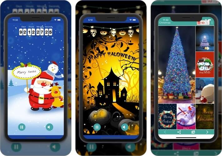 Christmas HD Wallpapers iPhone and iPad App Screenshot