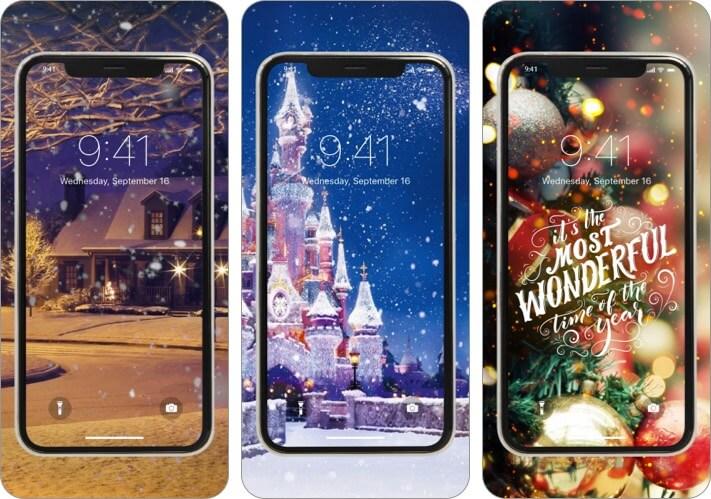Christmas Wallpaper iPhone and iPad App Screenshot