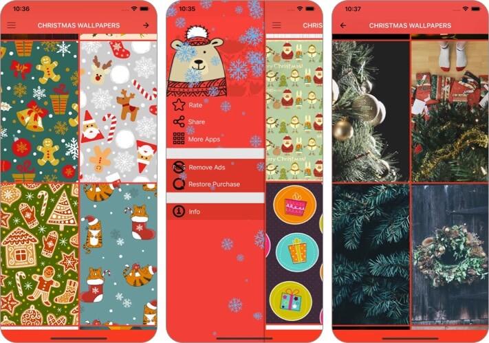 Christmas Wallpapers & Photos iPhone and iPad App Screenshot
