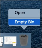 Click Empty Bin on Mac