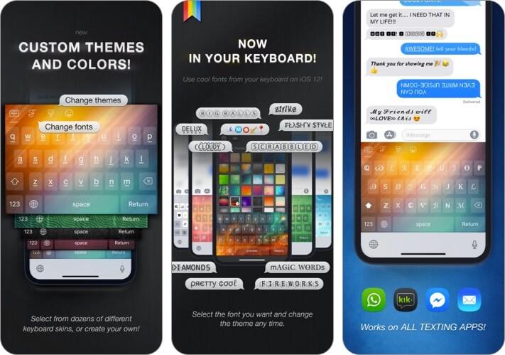 Cool Fonts iPhone App Screenshot