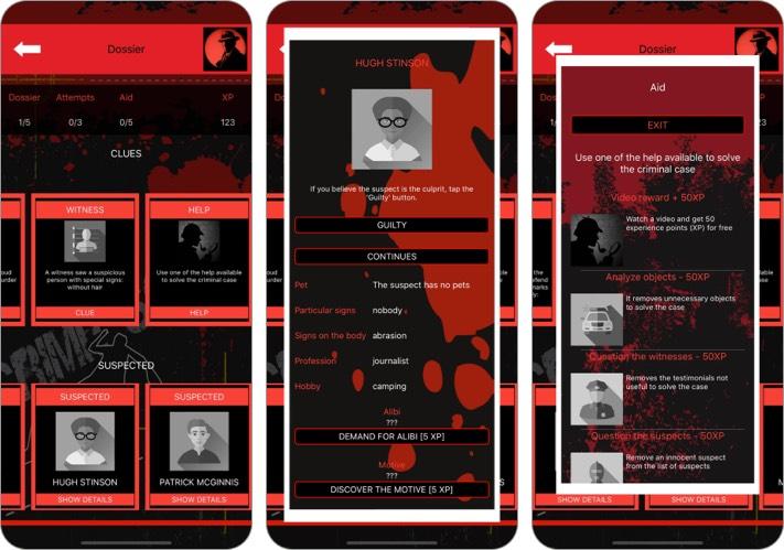 Detective Games: Criminal Case iPhone and iPad App Screenshot