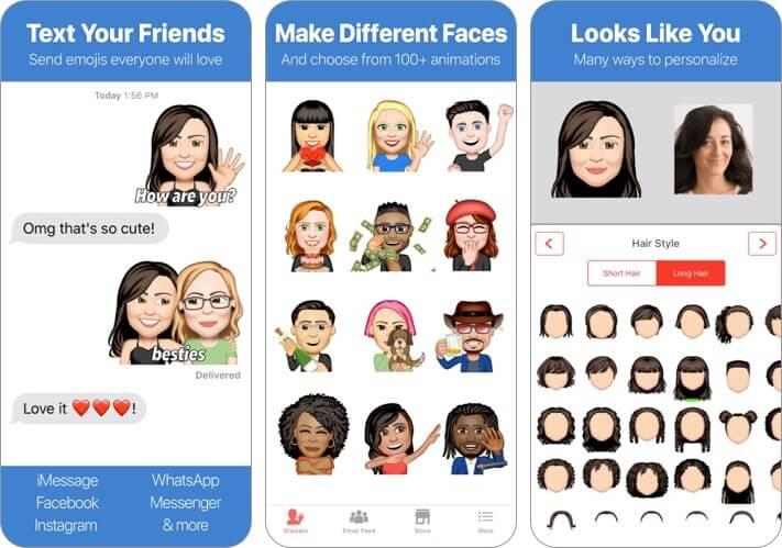 Emoji Me Animated Faces iPhone and iPad App Screenshot