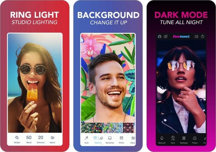 Facetune 2 iPhone and iPad Selfie App Screenshot