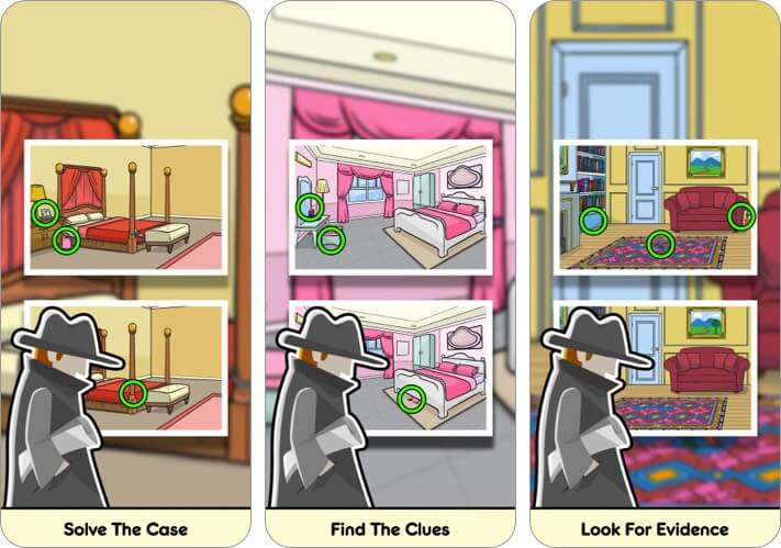 Find Differences iPhone and iPad Detective Game Screenshot