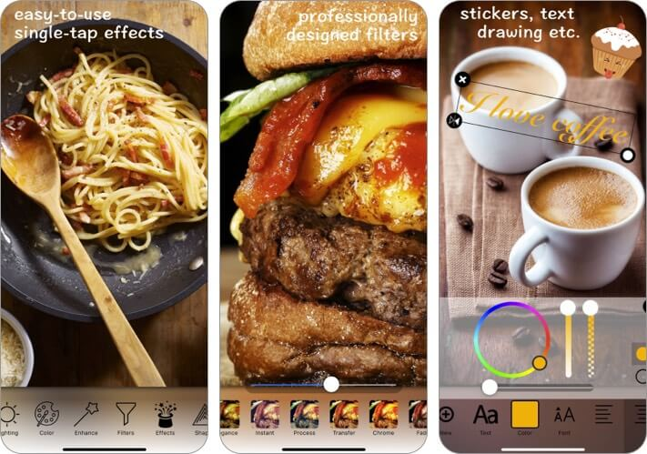 Food Photo Editor iPhone and iPad Photography App Screenshot