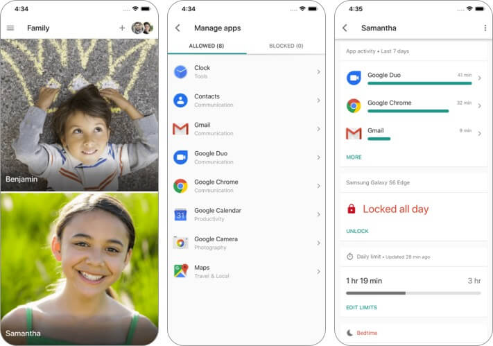 Google Family Link for Parents iPhone and iPad App Screenshot