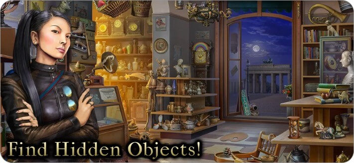 Hidden Objects Mystery Society iPhone and iPad Detective Game Screenshot