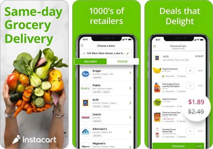 Instacart iPhone and iPad App Screenshot