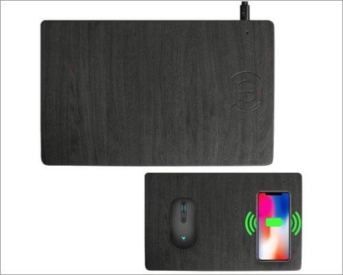 JCREN Wireless Charging Mouse Pad