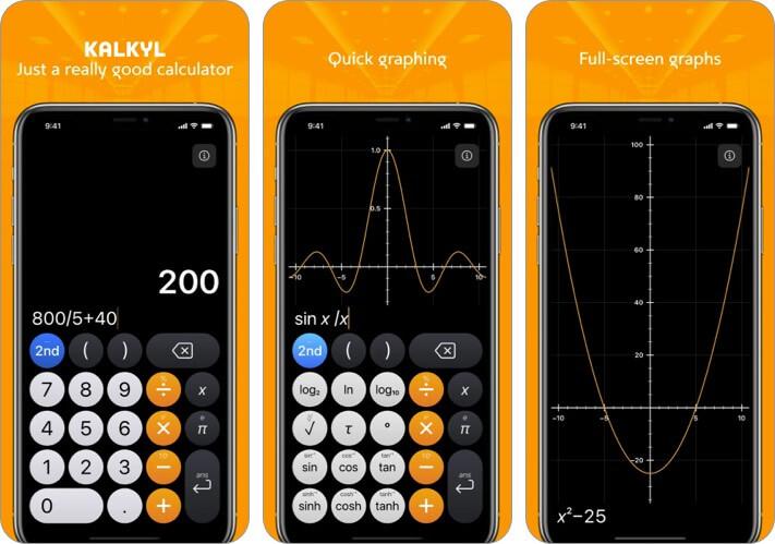 Kalkyl iPhone and iPad Calculator App Screenshot