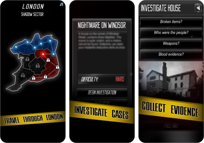 Murder Mystery Detective Story iPhone and iPad Game Screenshot